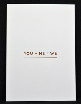 Navucko Postkarte - You + Me = We