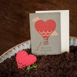 """Grusskarte zum Einpflanzen """"Hochzeit"""""""