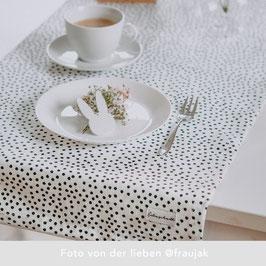 Eulenschnitt Tischläufer Polka Dots
