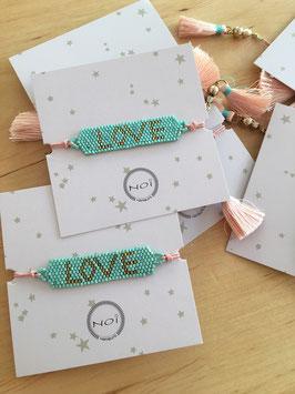 "Perl-Armband ""LOVE"" mit Fransen"