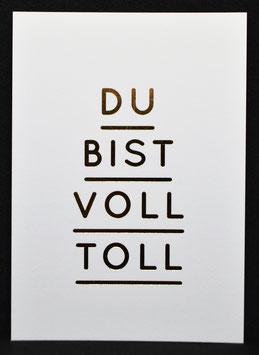"Navucko - Postkarte ""Du bist voll toll"""