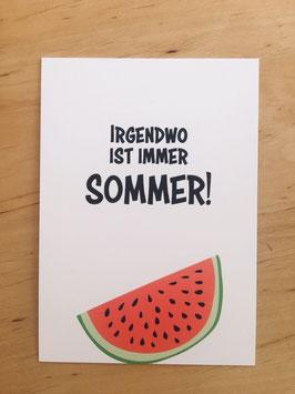 """Postkarte """"Sommer"""""""