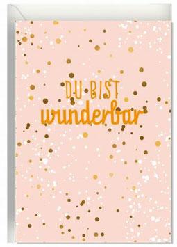 "Faltkarte ""Wunderbar"""