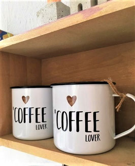 "Metal Mug ""Coffe Lover"""