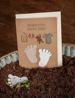 """Grusskarte zum Einpflanzen """"Baby"""""""