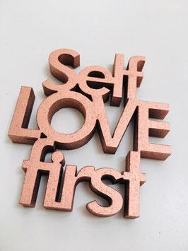 """3D-Holzletter """"Self Love"""""""