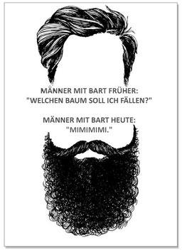 """Postkarte """"Männer"""""""