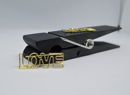 Paperclip - Love in gold - 4er Pack