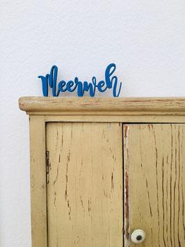 3D-Holzletter Meerweh M