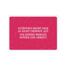 """Postkarte """"Glühwein reimt"""""""