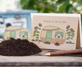 """Grusskarte zum Einpflanzen """"Zuhause"""""""