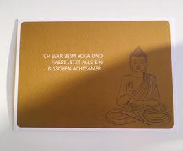 Postkarte Yoga