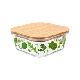 Lunchbox aus Glas & Bambus