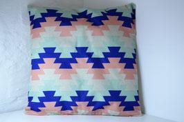 Kissenhülle - Leinen - Geometric Pastell