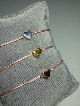 Unik - Seidenarmband Herz