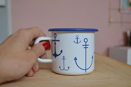 """Ahoi Marie - Emaille-Becher """"Anker"""