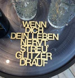 """3D-Holzletter """"Glitzer"""""""