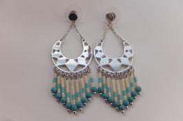 Boucles d'oreilles Lolita Turquoise - Bijoux Fantaisie