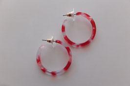 Boucles d'oreilles Acryl Rouge - Merveilles du Monde