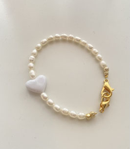 ARM CANDY WHITE LOVE HEART