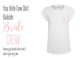 SO I ME. Collection BRIDE CREW Shirt