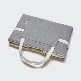Faltbares Reisebett - Tweed Grey