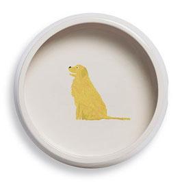 Golden Retriever Round Dog Bowl - Napf