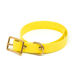 Halsband Biothane - Gelb
