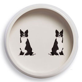 Border Collie Round Dog Bowl - Napf