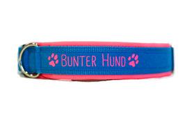 Halsband Bunter Hund rosa/hellblau