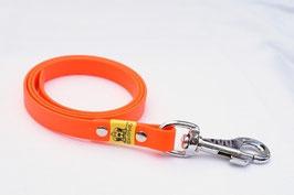Biothane Schleppleine ohne Schlaufe neon orange