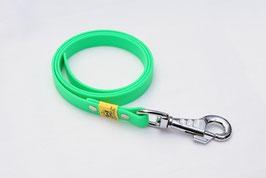 Biothane Schleppleine mit Schlaufe neon grün