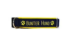 Halsband Bunter Hund gelb/dunkelblau