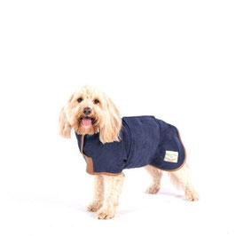 Hunde-Bademantel French Navy