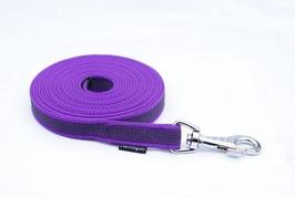 Gummierte Schleppleine ohne Schlaufe violett