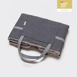 Faltbares Reisebett - Tweed Taupe