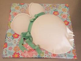 Zwangere buik taart klein