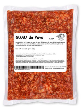 Menú PAVO 1 kg - Guau&Cat