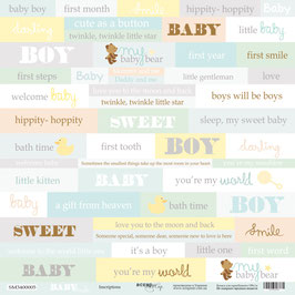 PSB-36-2 Hoja para recortar palabras 30x30 cm Baby Smile