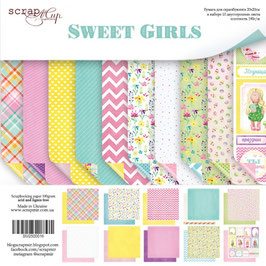 PSB-15 Papel scrapbooking 20x20 cm Sweet girls