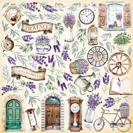 Hoja para recortar Journey to Provence Fabrica Decoru 30,5x30,5 cm