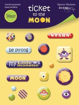 PSB-31 Pegatinas epoxi Ticket to the Moon