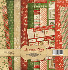 PSB-05 Papel scrapbooking 20x20 cm Christmas Night