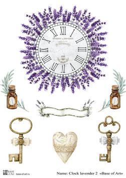 Clock lavender 2