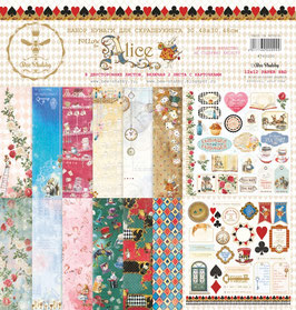 PSB-30  Papel scrapbooking 30x30 cm Follow the Alice