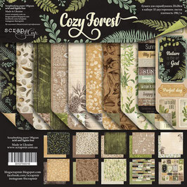 PSB-11 Papel scrapbooking 20x20 cm Cozy Forest