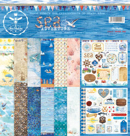 PSB-27  Papel scrapbooking 30x30 cm Sea adventure
