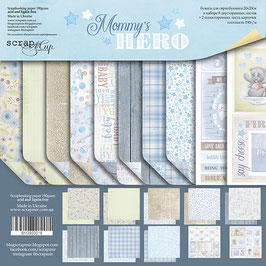 PSB-34 Papel scrapbooking 20x20 cm Mommy´s hero