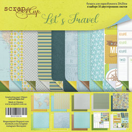 PSB-32  Papel scrapbooking 20x20 cm Let´s travel