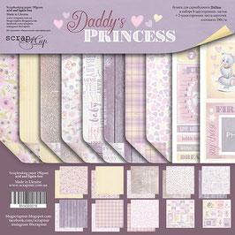 PSB-33  Papel scrapbooking 20x20 cm Daddy's princess